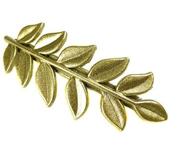 Haarclip leaves goud