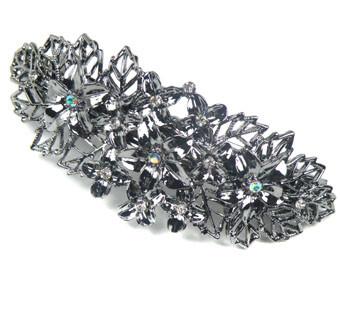 Haarspeld bloem opengewerkt zilver