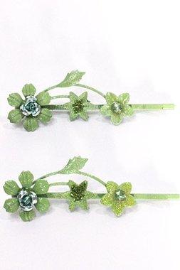 Schuifspeldjes bloemen groen