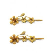 Schuifspeldjes bloemen geel