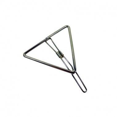 Haarclip driehoek zilver
