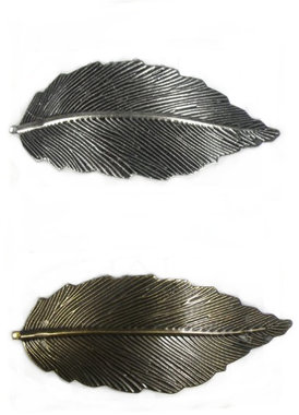 Haarspeld leaf antiek look