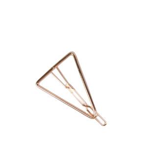 Haarclip driehoek koper