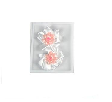 Haarspeldje baby bloem wit