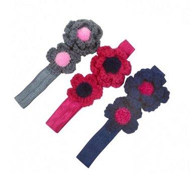 Haarbandje gehaakte bloemen