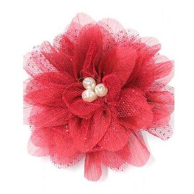 Haarbloem rood