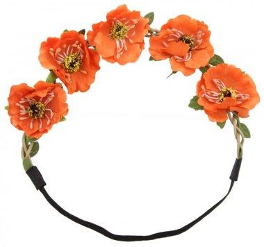 Haarband Ibiza flower oranje
