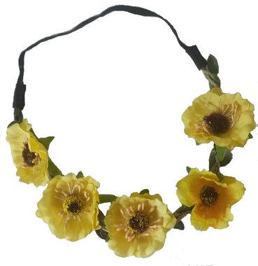 Haarband Ibiza flower geel