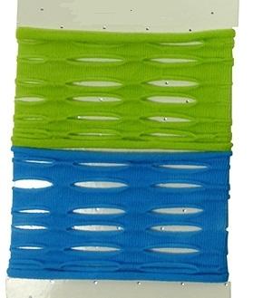 Elastiek Ibiza armband open blauw groen