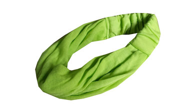 Bandana haarband kind lime groen