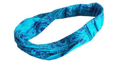 Bandana haarband paisley blauw