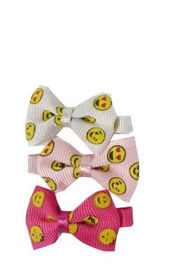 Duckklemmen emoji strik roze wit