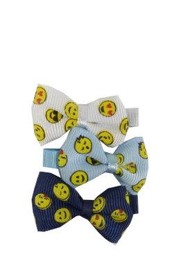 Duckklemmen emoji strik blauw wit