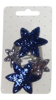 Klikklak mini ster glitter zilver blauw