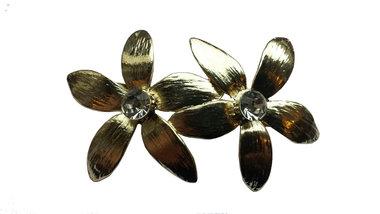 Haarspeld bloemen goud