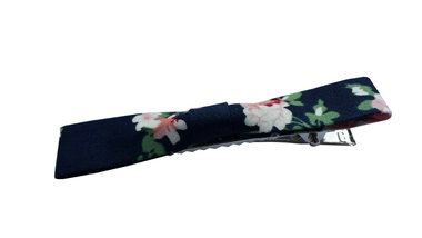 Duckklem bloemen print blauw
