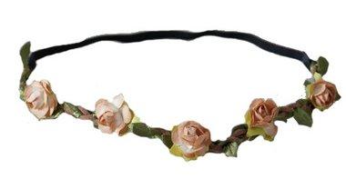 Haarband bloemetjes bruin