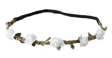 Haarband bloemetjes wit ivoor