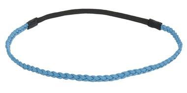 Haarband gevlochten blauw