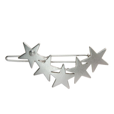 Haarclip sterren mat zilver