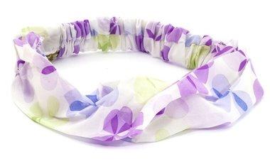 Bandana haarband bloem paars