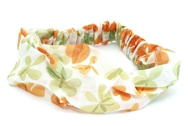 Bandana haarband bloem oranje
