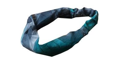 Bandana haarband voile print grijs groen