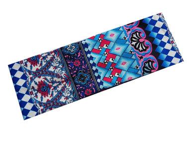 Haarband Ibiza print blauw
