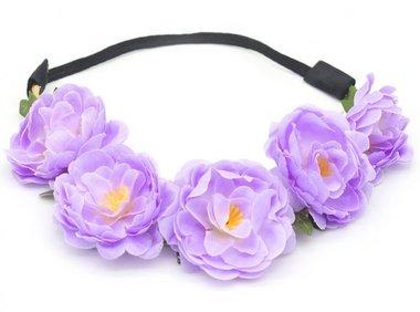 Haarband Ibiza flower paars