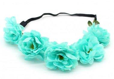 Haarband Ibiza flower aqua