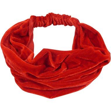 Bandana haarband 3-in-1 velvet rood