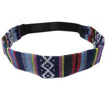 Haarband multi color blauw