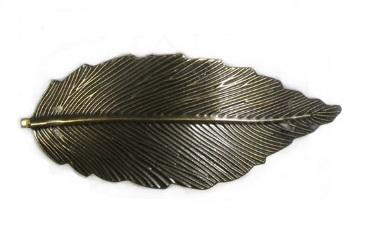 Haarspeld leaf antiek goud