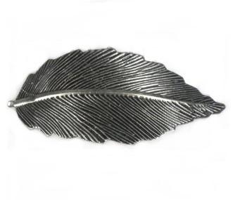Haarspeld leaf antiek zilver