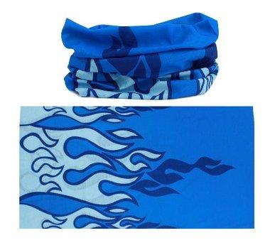 Haarband multifunctioneel vlammen blauw