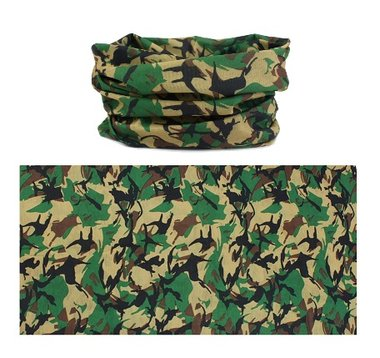 Haarband multifunctioneel camouflage groen