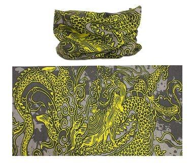 Haarband multifunctioneel dragon geel