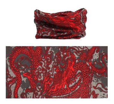 Haarband multifunctioneel dragon rood