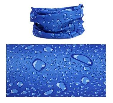 Haarband multifunctioneel druppel blauw
