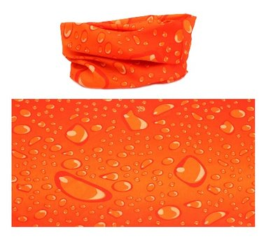 Haarband multifunctioneel druppel oranje