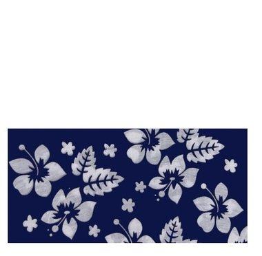 Haarband multifunctie bloem blauw