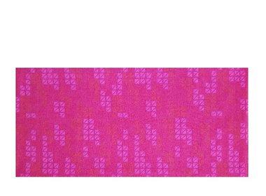 Haarband multifunctioneel blok print rood