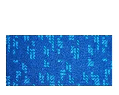 Haarband multifunctioneel blok print blauw