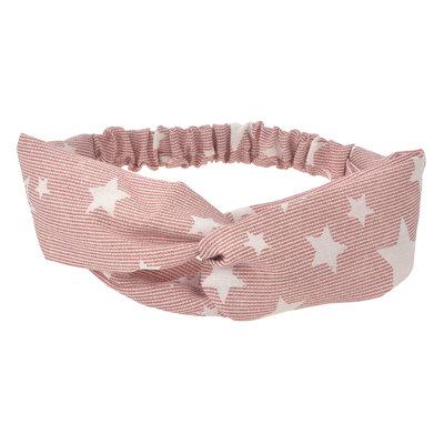 Haarband twist sterren roze