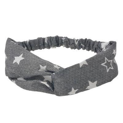 Haarband twist sterren zwart