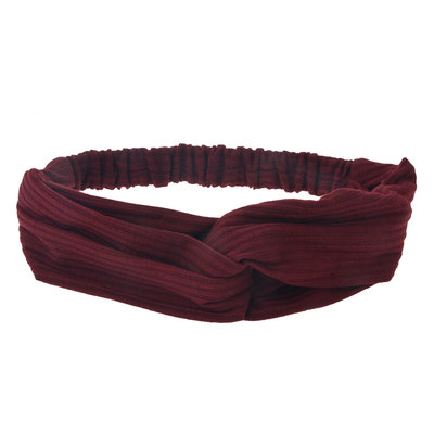 Haarband Twist Streep Patroon Bordeaux Rood