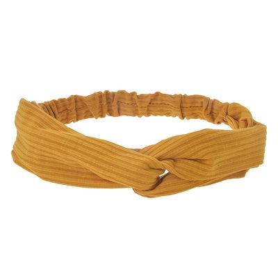 Haarband twist geel