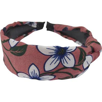 Diadeem knoop bloemen roze