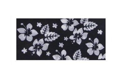 Haarband Multifunctineel Bloemen Print Zwart Wit