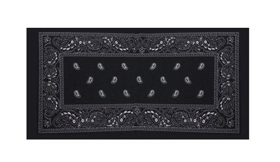 Haarband multifunctioneel paisley zwart